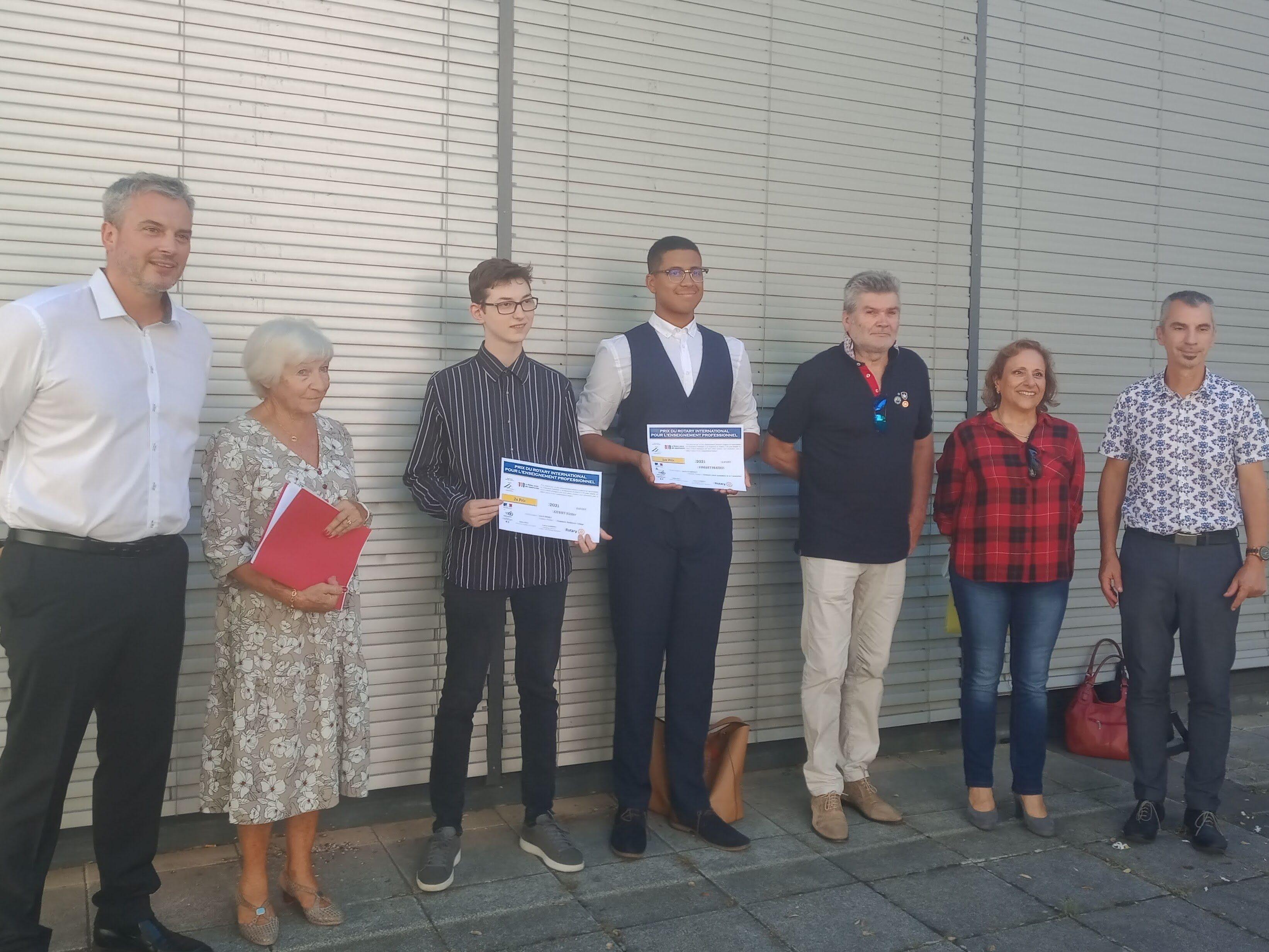 Mathis VIMART, lauréat du 1er prix du Rotary pour les lycées professionnel.